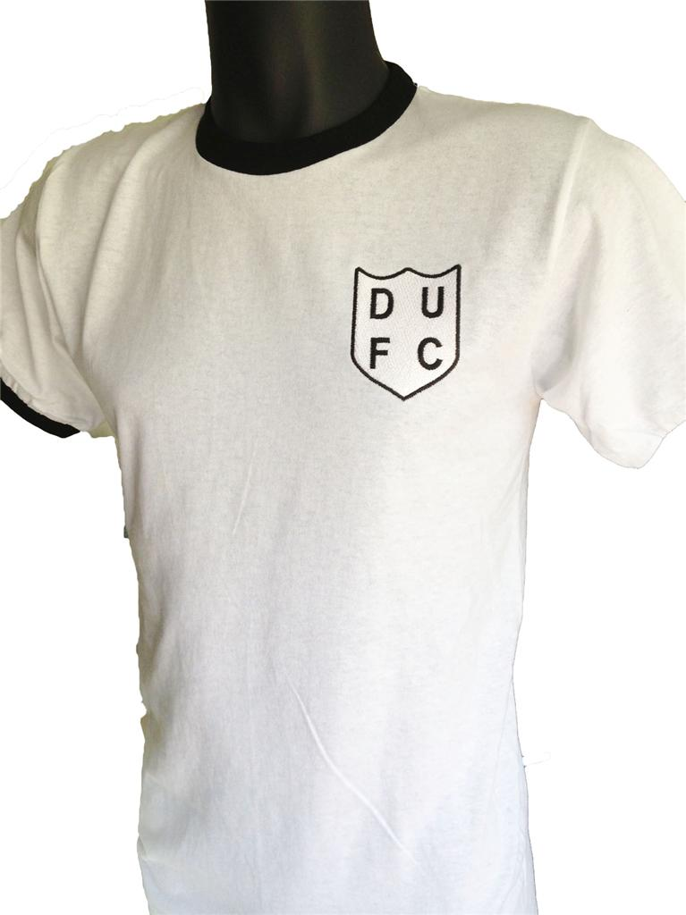 Retro-Dundee-United-1950s-Home-Football-T-Shirt-New-Sizes-S-XXL-Embroidered-Logo