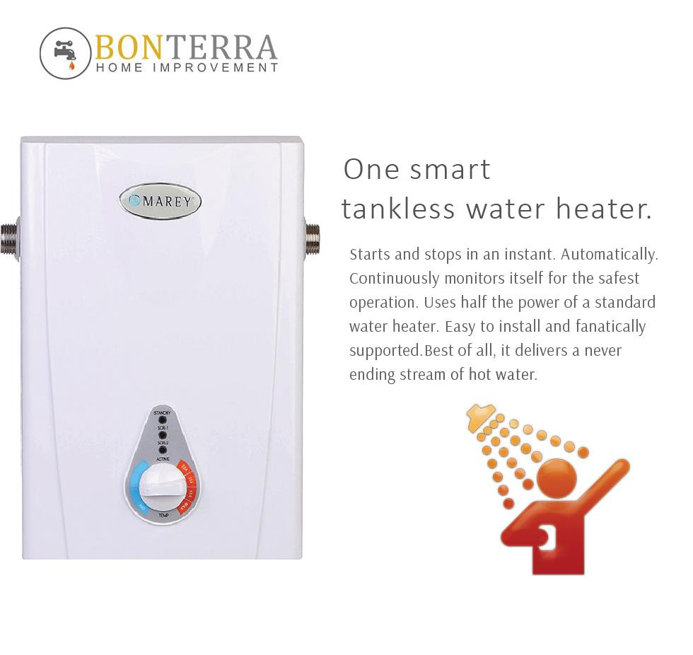 Tankless hot water heater electric 3 gpm 3 bath whole for 3 bathroom tankless water heater