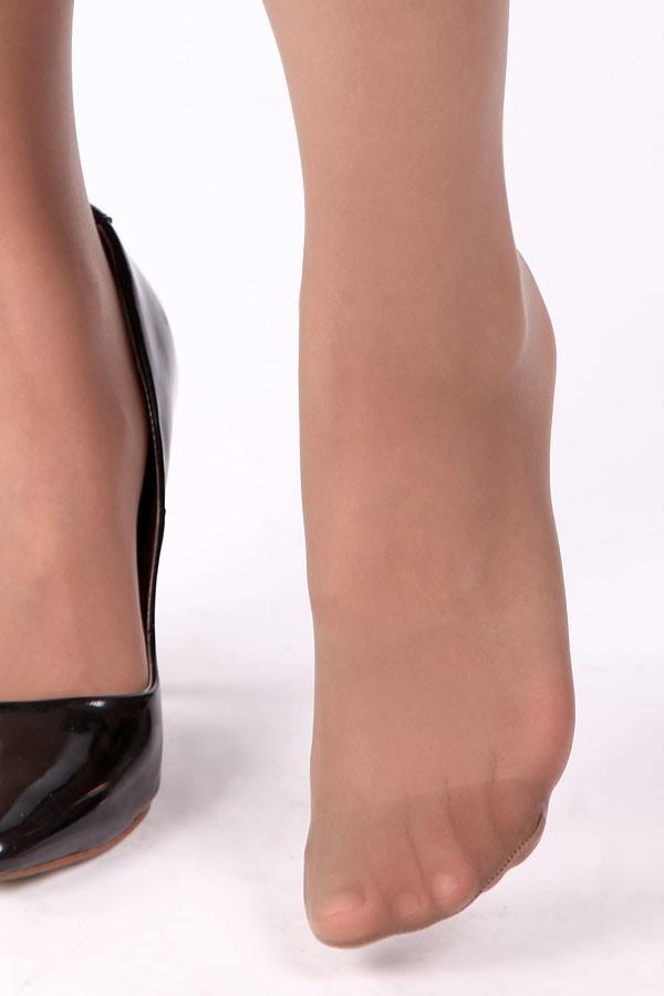 Used sheer pantyhose toe