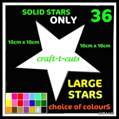 36-LARGE-WHITE-VINYL-STAR-STICKER-CAR-BIKE-VAN-BEDROOM-WALL