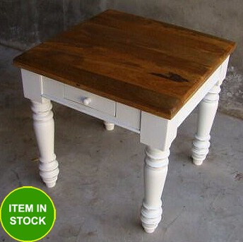 NEW-60cm-timber-French-Provincial-White-Coffee-Square-Lamp-Table-Hall-Side-Table