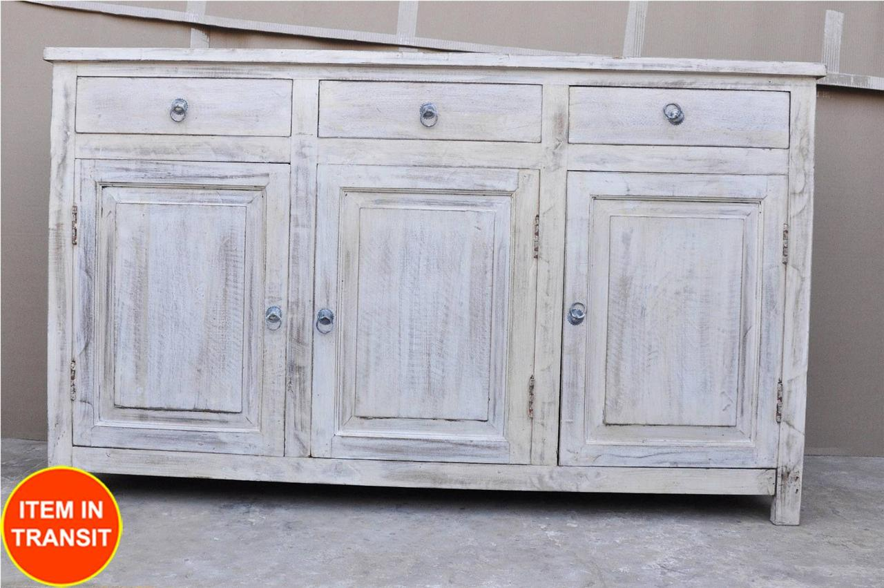 new shabby chic door indian buffet sideboard timber white. Black Bedroom Furniture Sets. Home Design Ideas