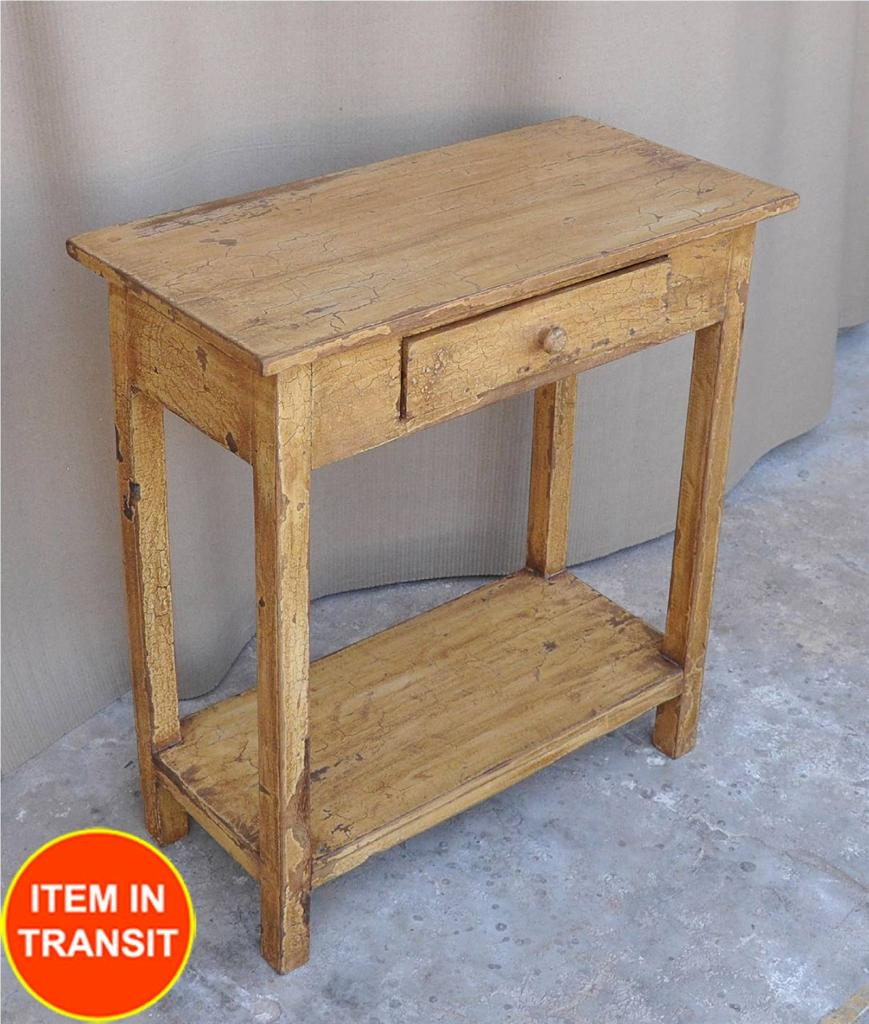 yellow french rustic kitchen stool side table lamp hall tall table