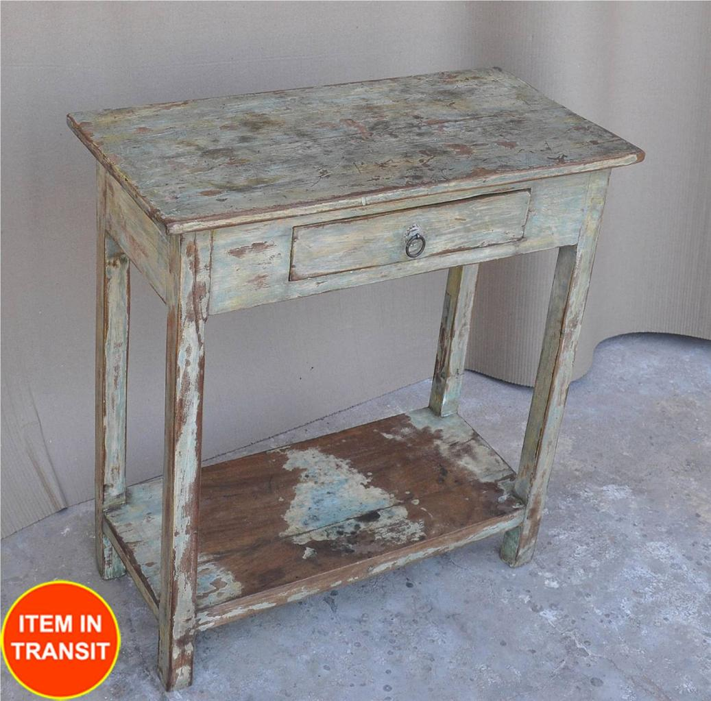 Kitchen Side Table : ... french rustic kitchen stool side table lamp hall tall table  eBay
