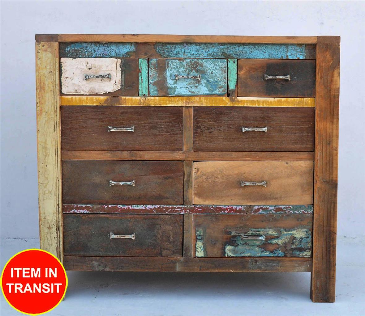 Recycled Reclaimed Boat Timber Old Wood French Dresser