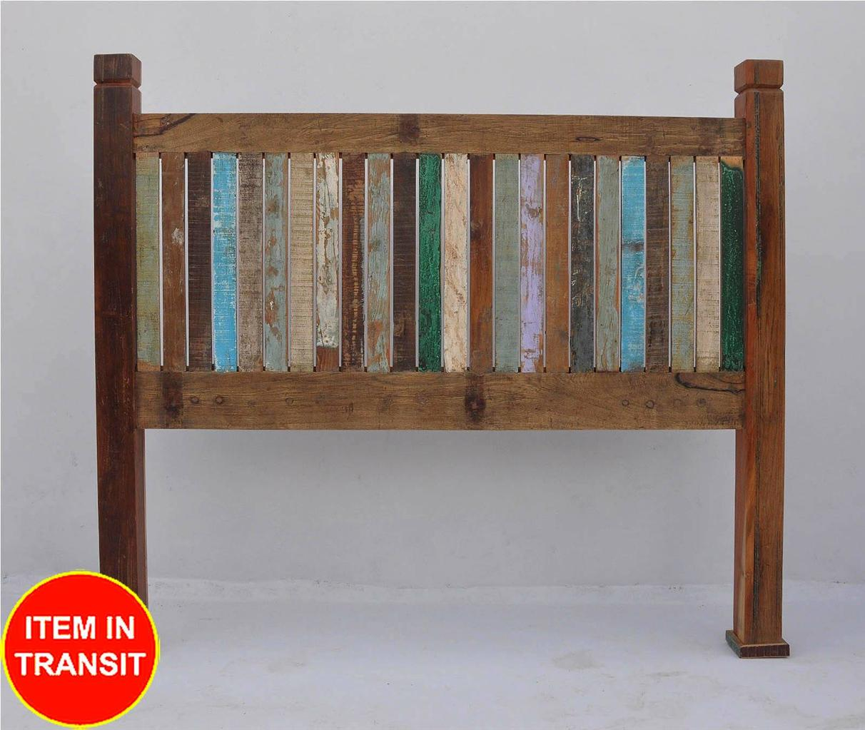 New recycled reclaimed boat timber old wood french queen for Recycled timber beds