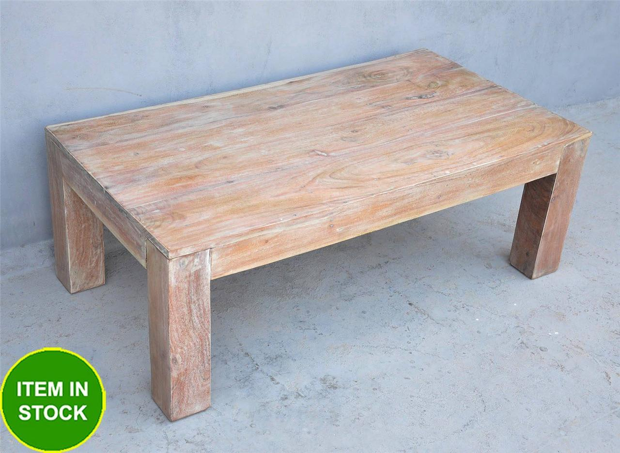 Solid-hardwood-rectangle-Coffee-Table-stool-white-teak-wood-timber-Contemporary