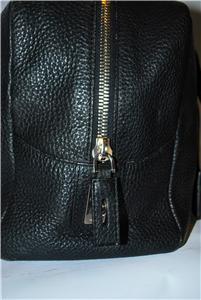 Prada purse handbag black leather 100% Authentic w/COA~Milano DAL 1913