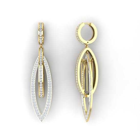 sparkly i1 g real 1 25tcw 14kt gold dangle