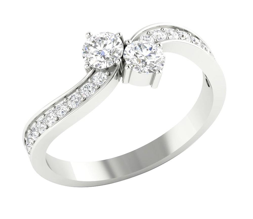 solitaire engagement ring forever us two stone. Black Bedroom Furniture Sets. Home Design Ideas