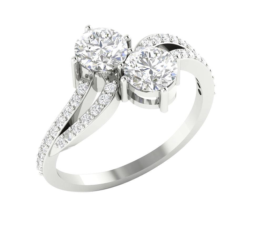 Si1 g forever us 2 stone diamond solitaire for Lindenwold fine jewelers jewelry showroom price