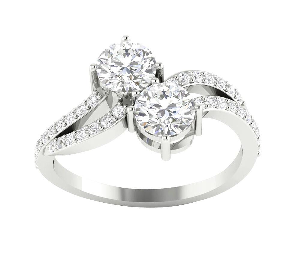 I1 G Genuine 1 50tcw Forever Us Two Stone Diamond 14kt