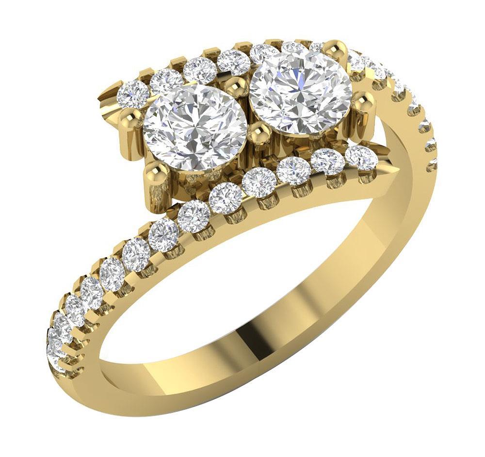 14kt gold si1 g forever us 2 stone diamond. Black Bedroom Furniture Sets. Home Design Ideas