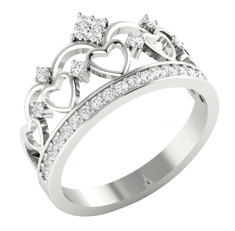 i1 h real diamond crown engagement wedding ring. Black Bedroom Furniture Sets. Home Design Ideas