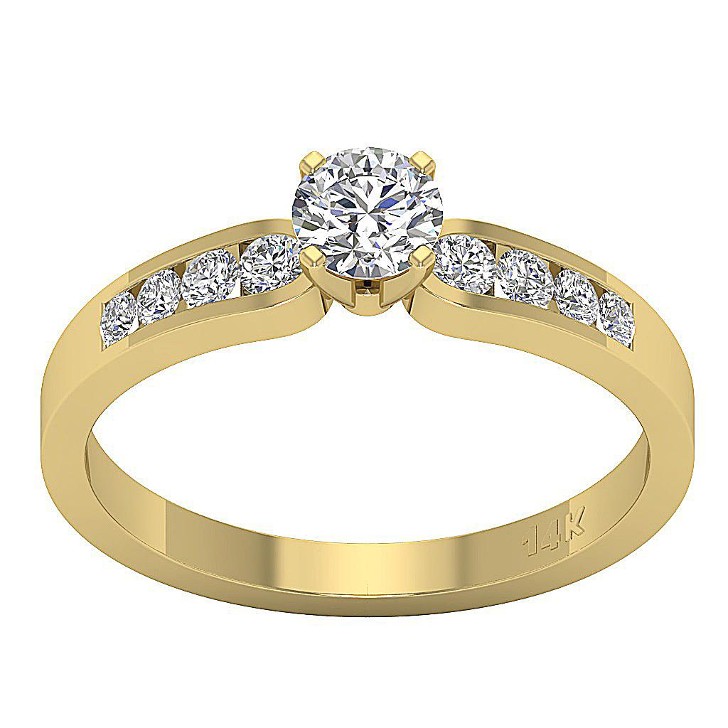 i1 g solitaire ring engagement band genuine diamond 14k gold appraisal ebay. Black Bedroom Furniture Sets. Home Design Ideas