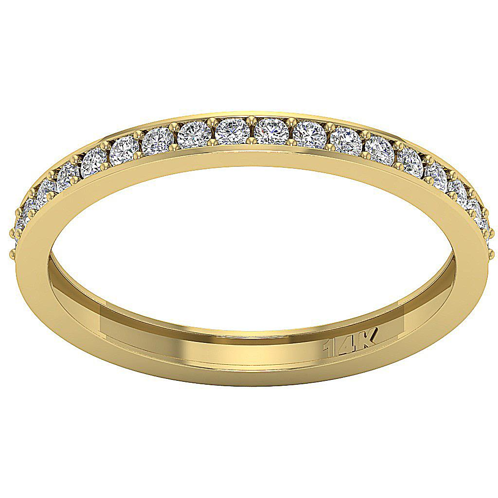 Engagement Wedding Ring 0 40Ct Round Cut Diamond Yellow Gold Appraisal Size 4