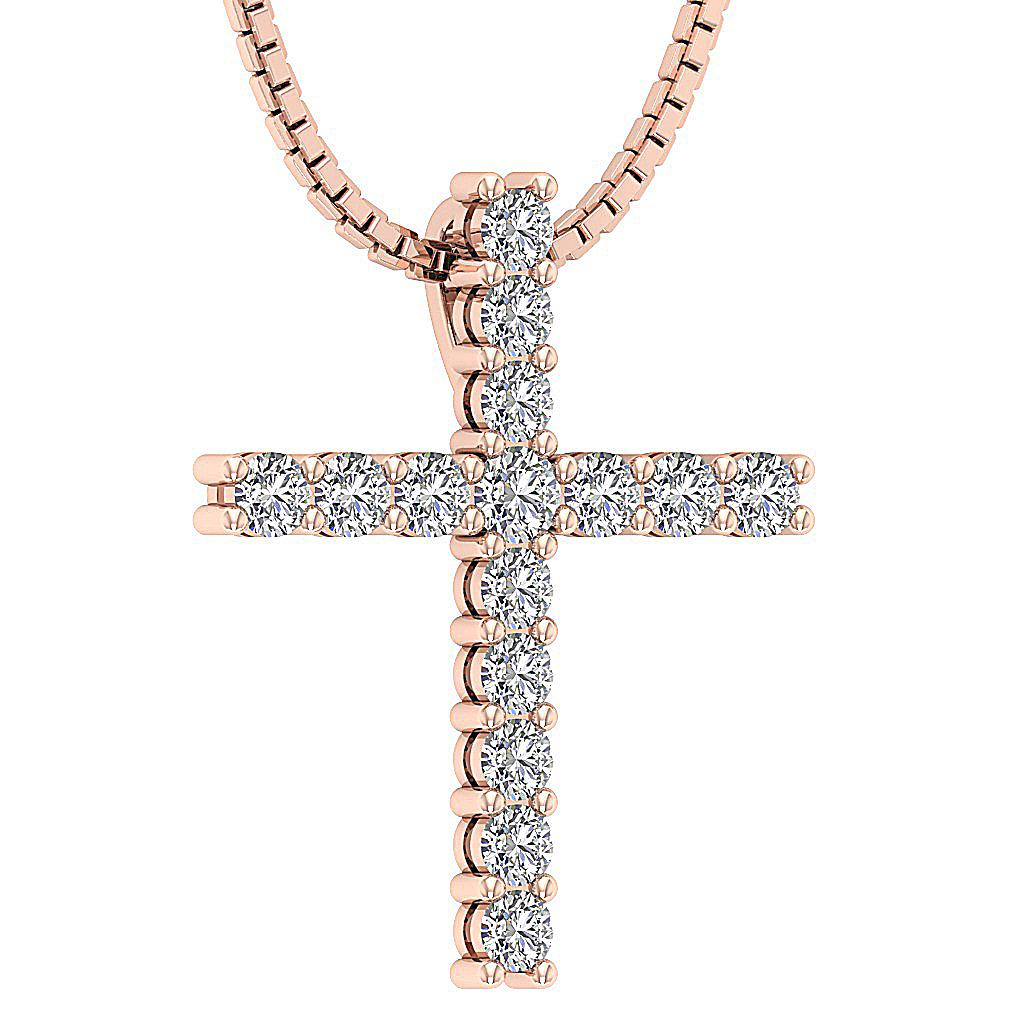 cross pendant necklace vvs1 f real diamond white. Black Bedroom Furniture Sets. Home Design Ideas
