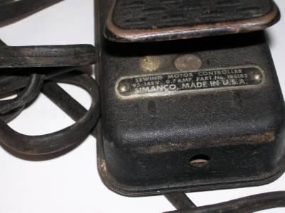 Singer sewing machine motor light control pedal ebay for Singer sewing machine motor controller