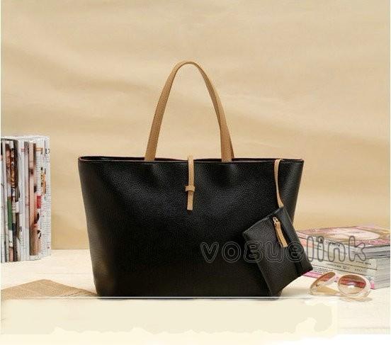 New-Fashion-Women-Belt-Buckle-PU-Leather-Purse-Handbag-3-Colors