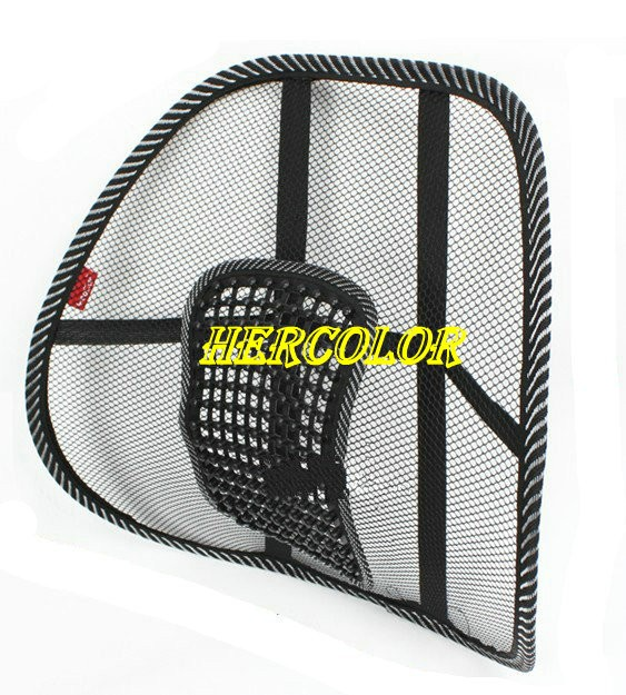 2 pcs car seat massage back mesh ventilate lumbar support cushion pad black. Black Bedroom Furniture Sets. Home Design Ideas