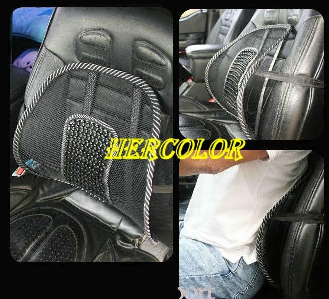 car seat massage back mesh ventilate lumbar support cushion pad black dfu 45. Black Bedroom Furniture Sets. Home Design Ideas