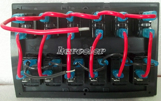 Boat Control Panels : New waterproof gang marine boat control led switch panel