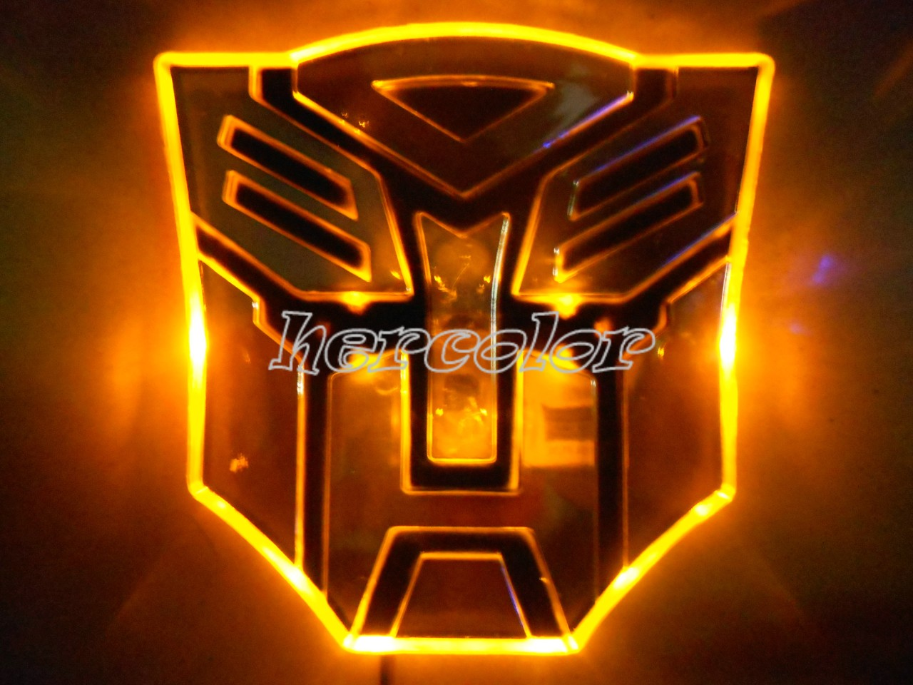 Led Transformers Autobot 3d Logo Emblem Badge Decal Car Sticker