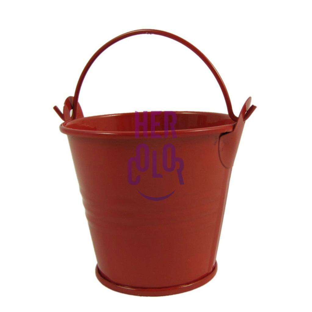 12pcs mini metal bucket candy favours box pail wedding for Small pail buckets