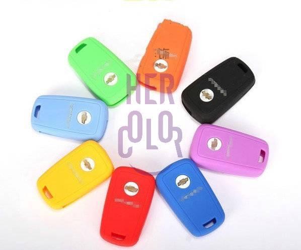 Silicone Key Shell Case Cover Remote For Chevrolet Cruze Malibu Captiva Aveo