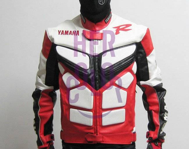 Motorcycle motorbike yamaha yzf r1 r6 pu leather racing for Yamaha r1 motorcycle jackets