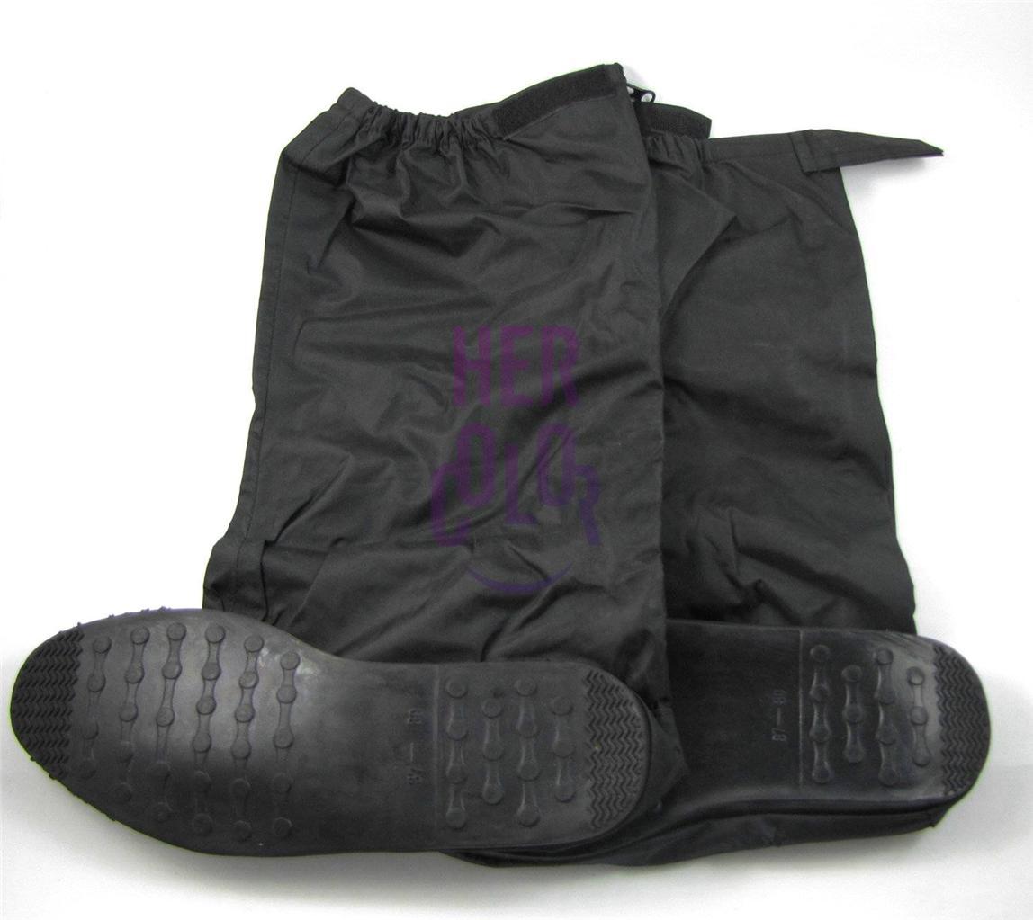 NEW Motorcycle Rain Boot Covers Waterproof Biker Shoes