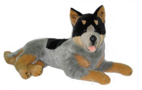 new huge cattle dog blue heeler soft stuffed plush toy ebay. Black Bedroom Furniture Sets. Home Design Ideas