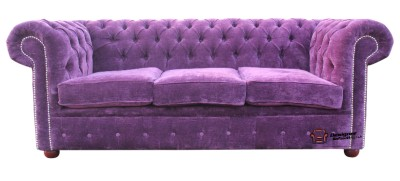 Chesterfield Original 3 Seater Settee Sofa Velluto