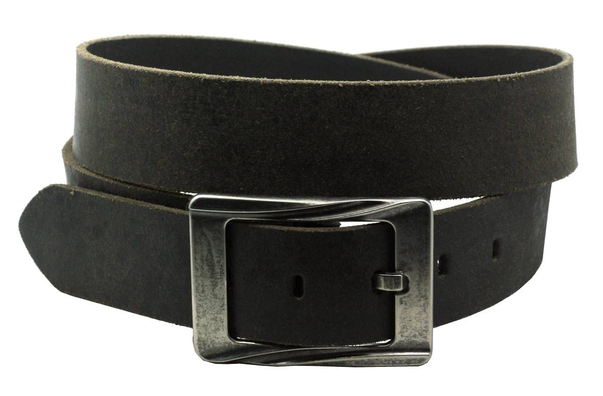 mens black 100 leather belt casual vintage distressed look