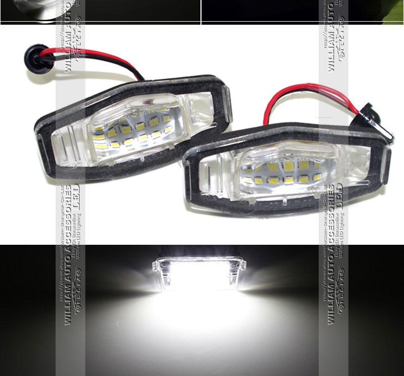 2 bulbs xenon white led license number plate lights for - Honda accord interior light bulb replacement ...