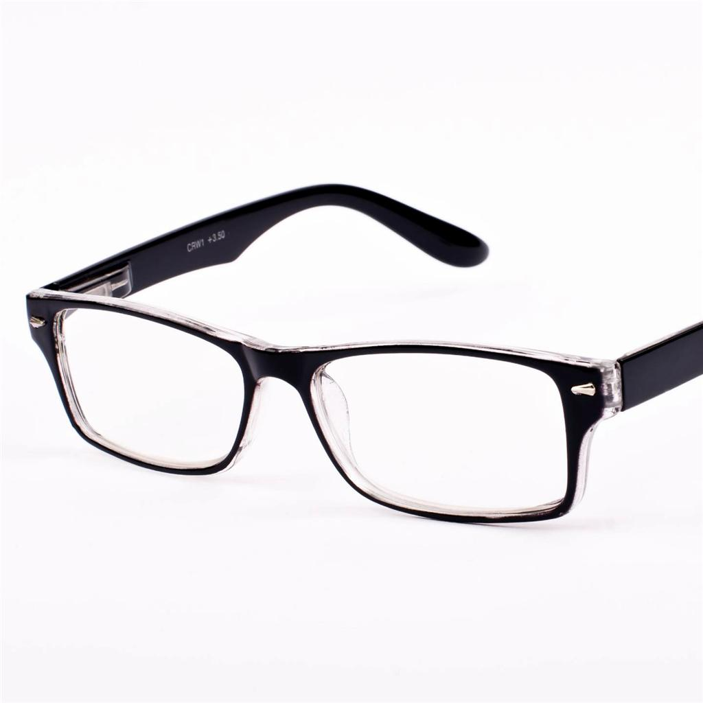 new mens womens retro vintage black clear reading glasses