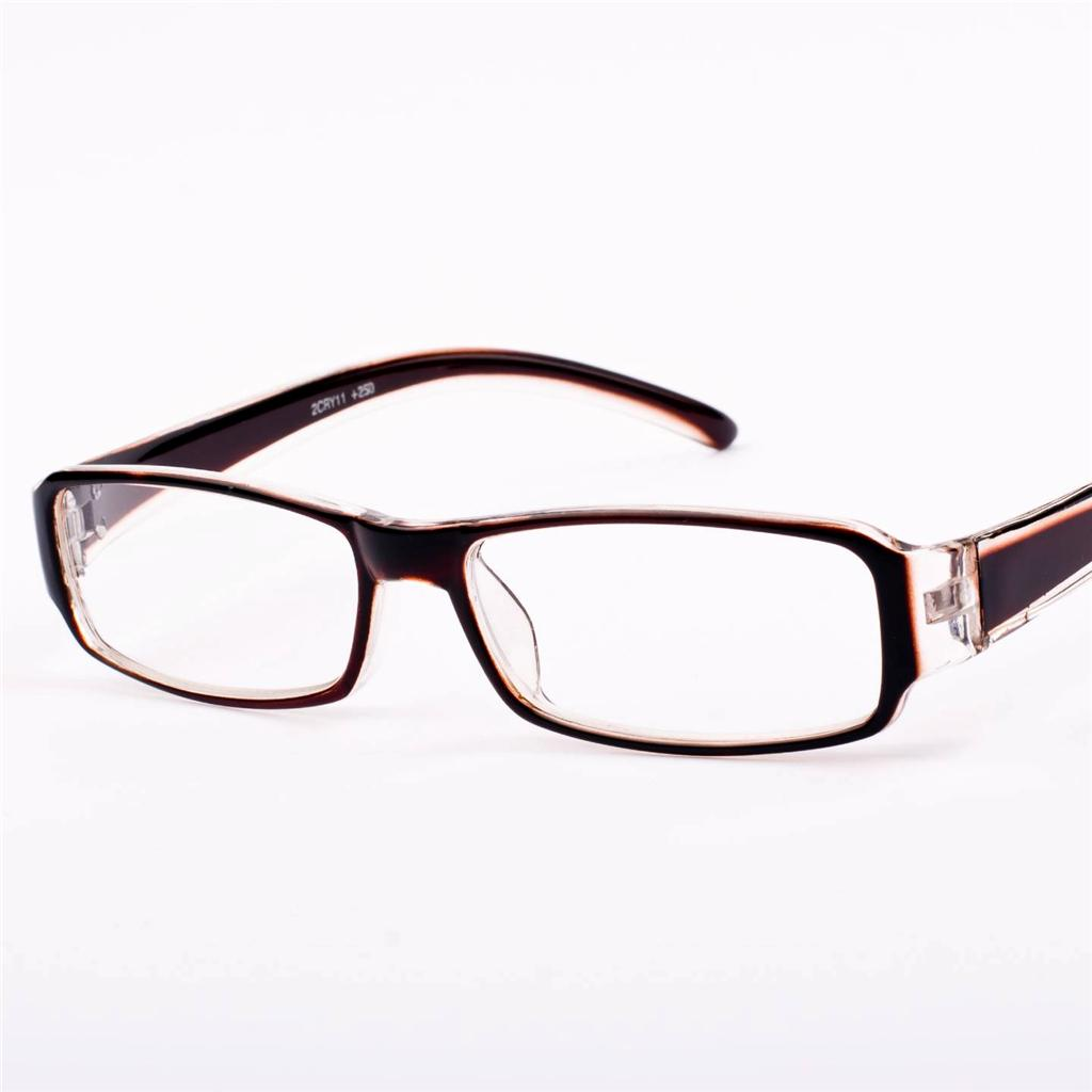 new mens womens brown clear reading glasses 1 25