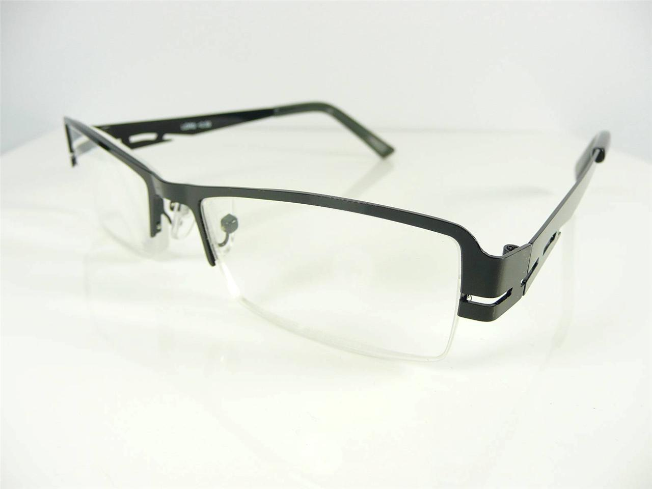 New Mens Womens Semi Rimless Black Reading Glasses +1 +1.5 ...