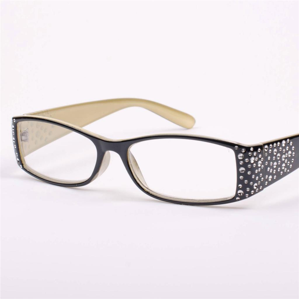 new womens diamante designer black reading glasses
