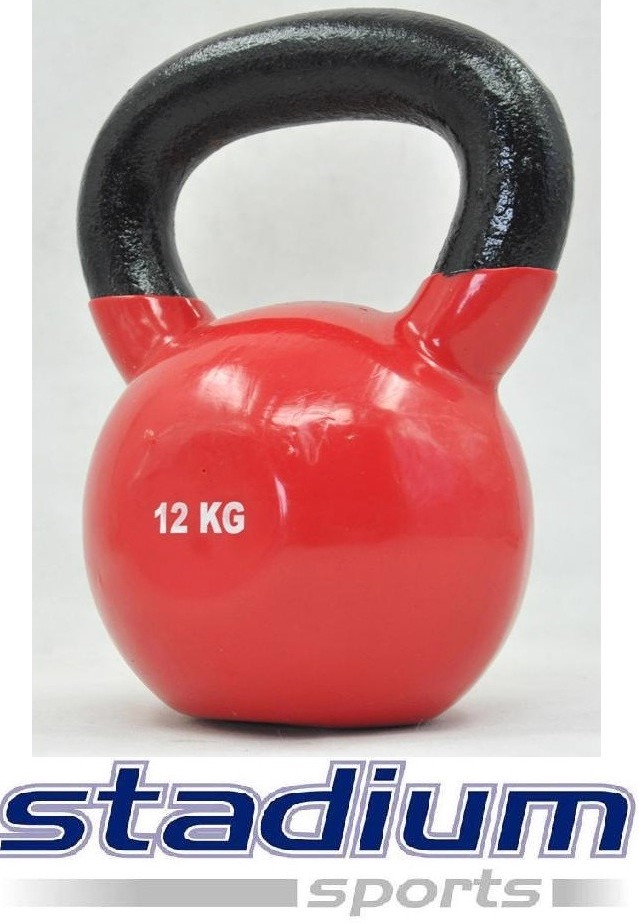 12KG-VINYL-CAST-IRON-KETTLEBELL-GYM-WEIGHT-RUSSIAN-STYLE-FREE-POSTAGE
