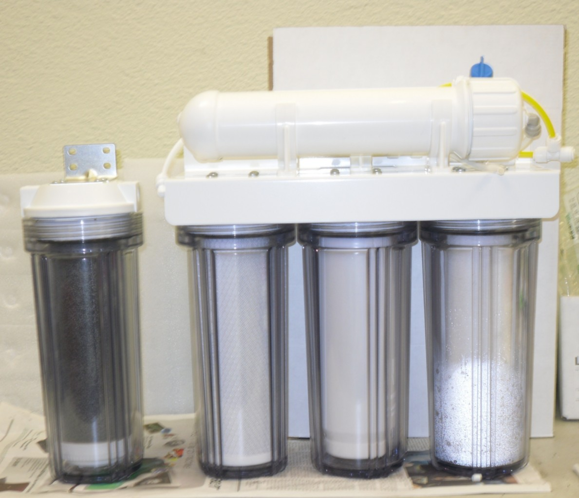 Reverse osmosis ro di deionization reef aquarium water for Fish filtration system