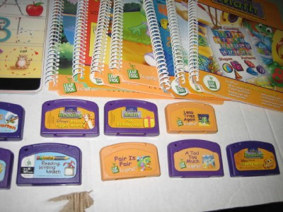 Leap Frog Leap Pad Learning Lot Cartridges Books Over 11 K 1st Grade