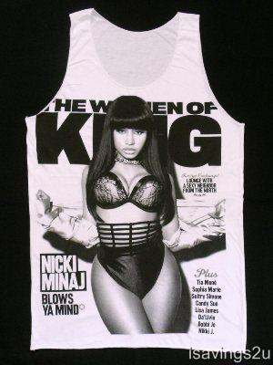 Diva NICKI MINAJ Tank Top, Rap HIP HOP Star, SINGLET White, T shirt