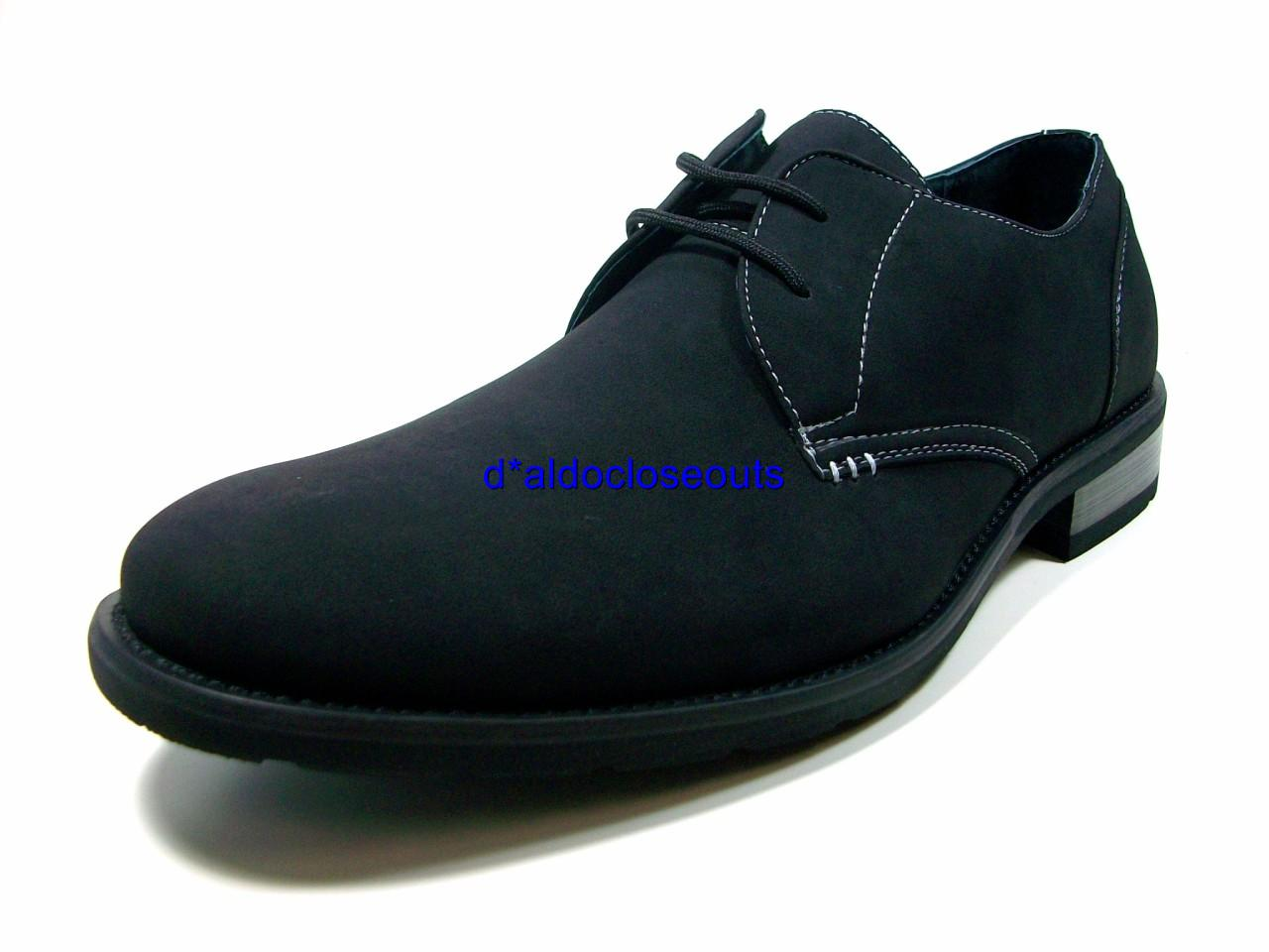 d aldo mens black oxford dress casual shoes lace up
