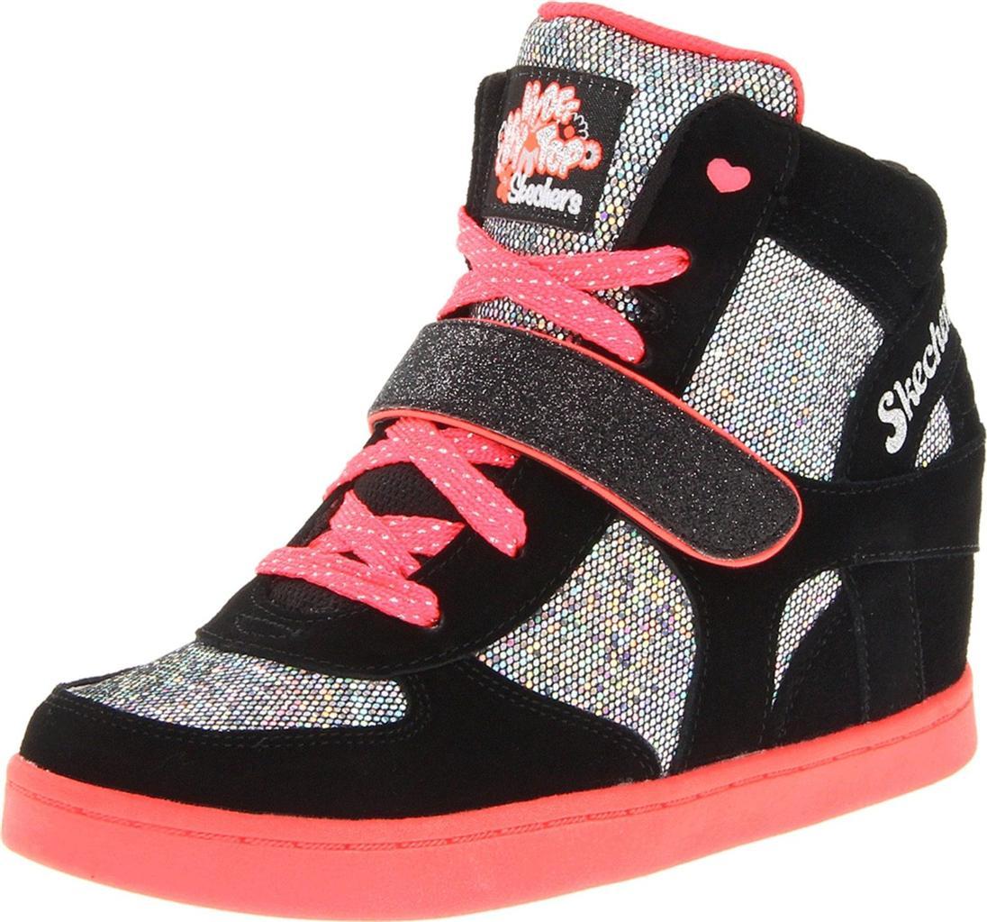 New Girls Skechers HyDee HyTops Black Neon Pink High Tops Size 12 New In Box | EBay