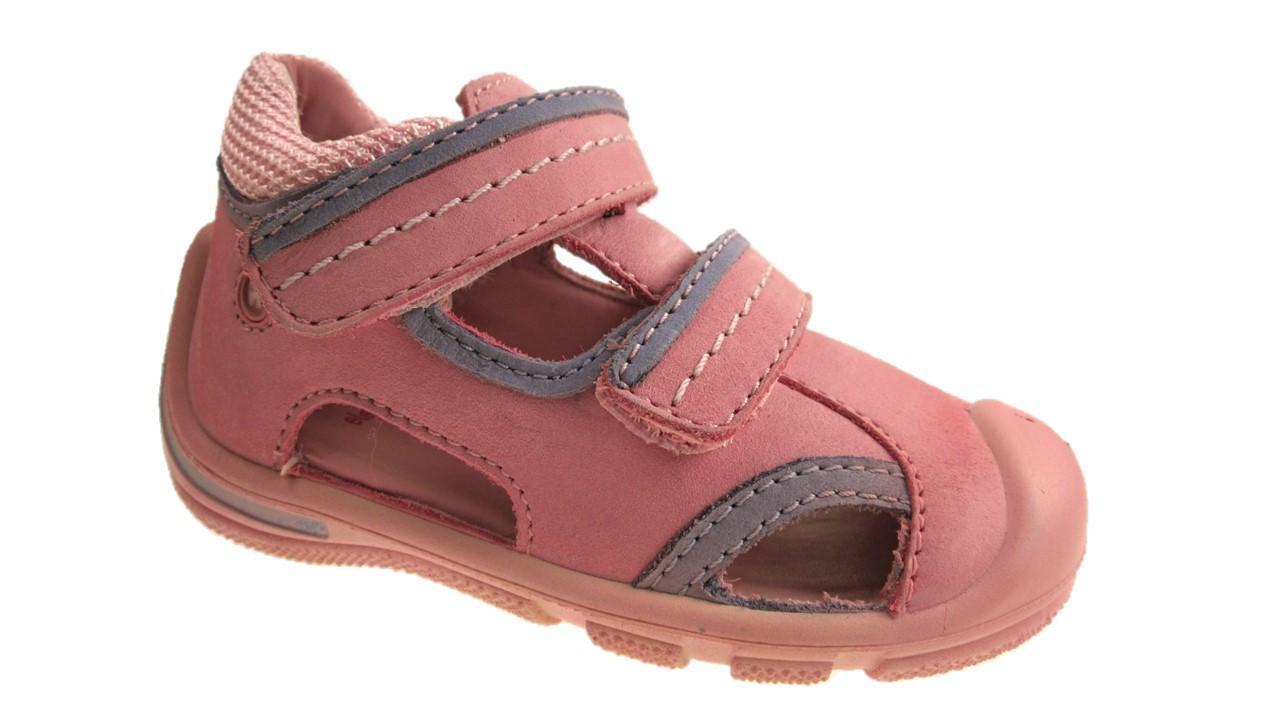 Chicas Elefanten Infantil Sandalias de gancho y lazo de cuero rosa Talla 4-7 Nuevo