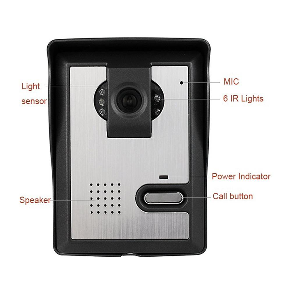 4 3 intercom monitor doorbell system ir night vision for Door intercom