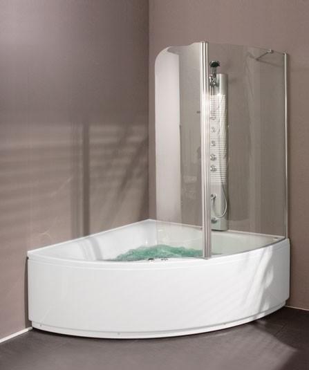 Aquaestil Gloria 1400 Corner Shower Bath With Screen Ebay