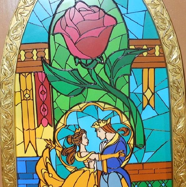 beauty and the beast rose stained glass pattern download