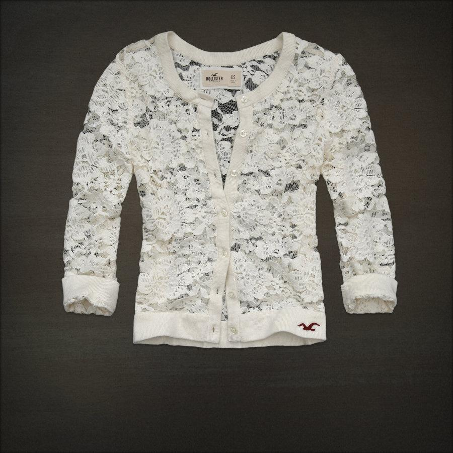 NWT-Hollister-by-Abercrombie-Women-El-Morro-Cardigan-sweater-Cream-S-79-5
